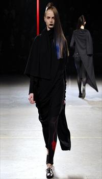 Aleksandra M at Yohji Yamamoto Fall/Winter 2012