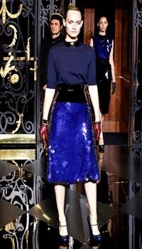 Amber V at Louis Vuitton Fall/Winter 2011
