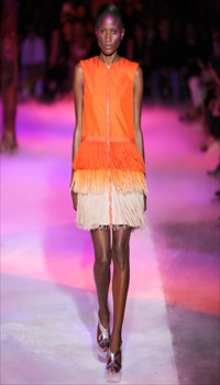 Aminata at Moncler Gamme Rouge Spring/Summer 2012