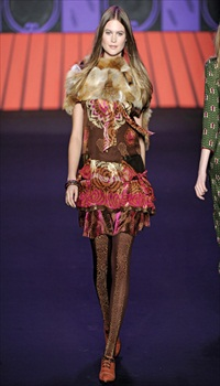 Behati at Anna Sui Fall/Winter 2011
