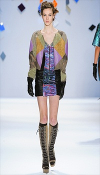 Denija at Custo Barcelona Fall/Winter 2012