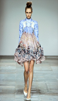 Karin at Mary Katrantzou Fall/Winter 2012