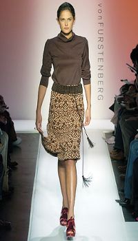 Katarina S at Diane von Furstenberg Fall/Winter 2005