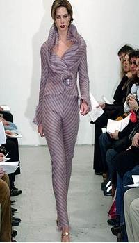Mariana at Jackie Rogers Fall/Winter 2004