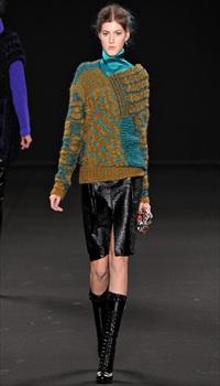 Valery K at Vanessa Bruno Fall/Winter 2012